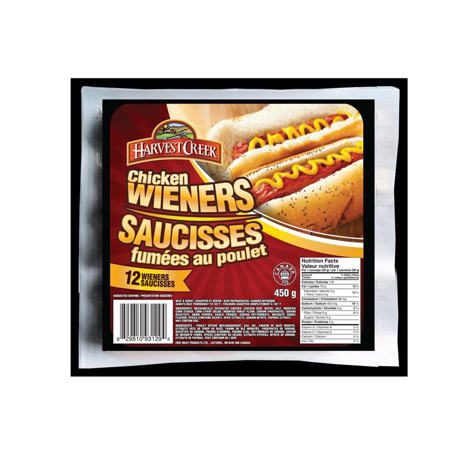 Chicken Wieners / Saucisses fumées au poulet