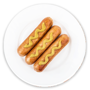 Halal Chicken Wieners / Saucisses fumées au poulet Halal