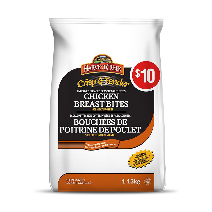 Chicken Breast Bites / Bouchées de poitrine de poulet